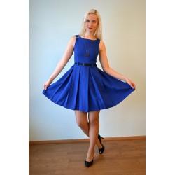 Ilma varrukateta laia pliseeriga kleit