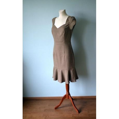 30ndate stiilis tumesinine kleit
