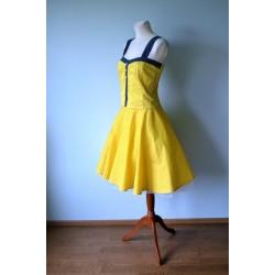 Yellow polka dot 50's style skirt