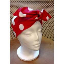 Polka dot red pin-up hairband