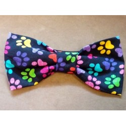Cat foot print bow tie