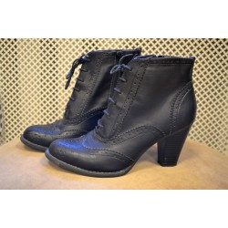 Vintage style heel boots