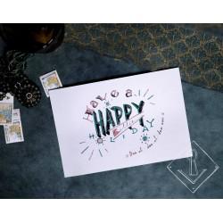 """Postkaart """"Happy Holiday"""""""