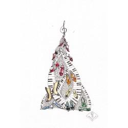 """Postkaart """"Tantsijate Jõulupuu"""""""