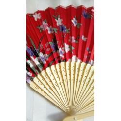 Heleda bambusega punane lehvik