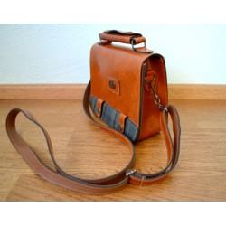 Vintage stiilis väike pruun käekott
