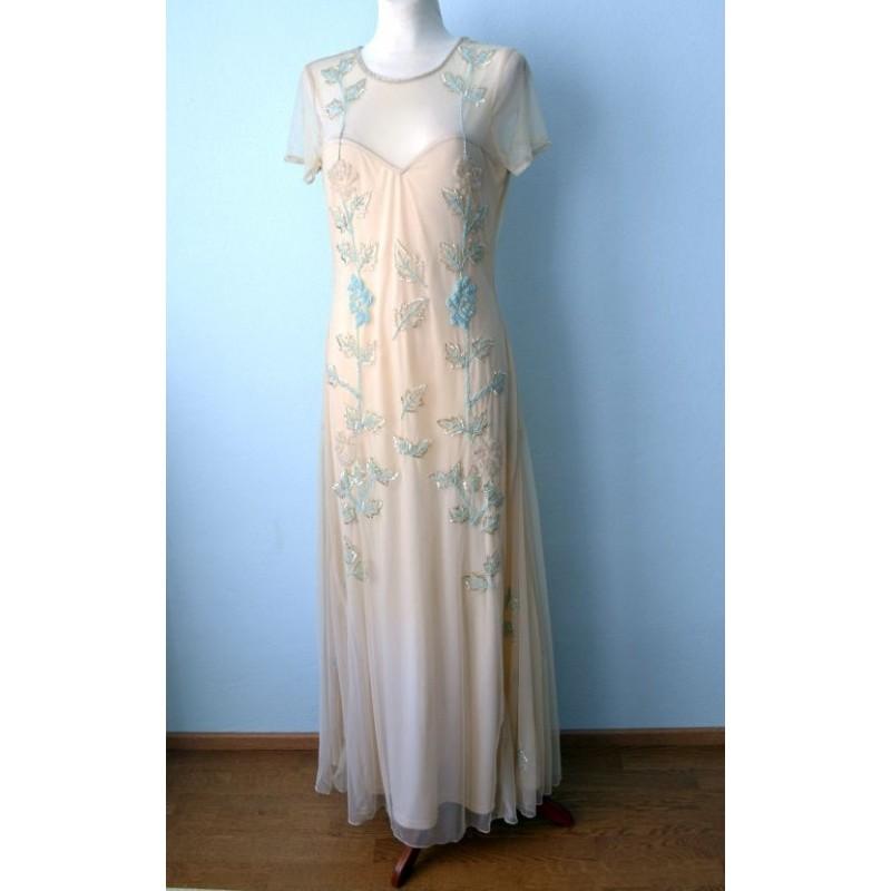 0418342a618 Litritega elegantne tüllist 1930ndate stiilis pikk kleit. Loading zoom
