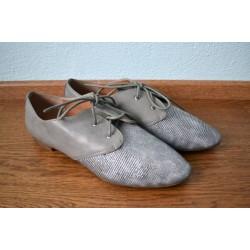 Paeltega madalad hõbedased kingad