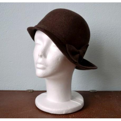 Elegantne pruun vildist vintage kübar