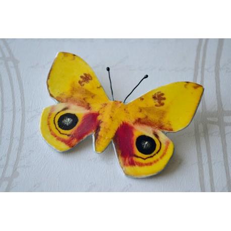 Pross mustade täppidega kollane liblikas