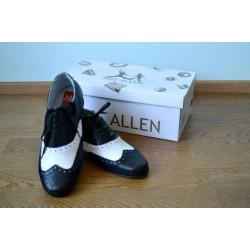 Musta-valgega meeste svingtantsu kingad