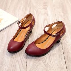 Veimipunased kontsaga vintage stiilis kingad