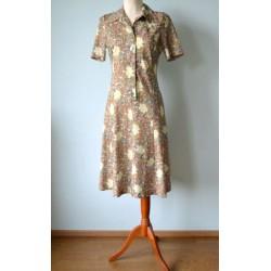 Lillemustriline A-lõikeline nööpidega vintage kleit