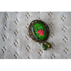 Punase roosiga roheline vintage stiilis pross