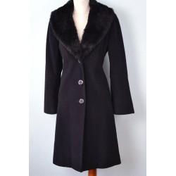 Musta karvakraega must villane vintage mantel